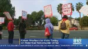 Kaiser Permanente Workers Start Voting On Whether To Authorize Strike [Video]