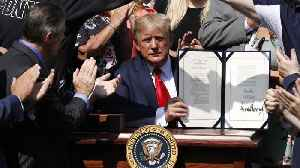 News video: Trump Spoke To First Responders As He Signed Extension To Their 9/11 Fund