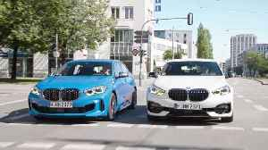 BMW 118d and BMW M135i xDrive Driving in the city [Video]