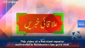 Reporter in Pakistan goes live from neck-deep floodwaters [Video]