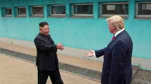Trump Sends Photos Of DMZ Meeting With Kim To North Korean Leader: Report [Video]