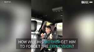 Actor Paul Campbell's son caught cursing [Video]