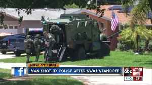 Barricaded man opens fire at SWAT team, shot by police sniper [Video]