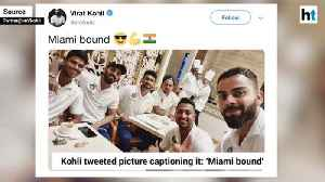 Virat Kohli shares pic with teammates as 'Men in Blue' gear up for WI tour [Video]