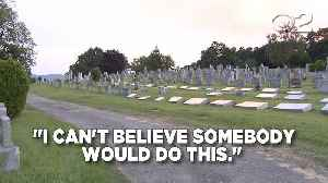 Cemetery Vandalized: Dozens Of Headstones, Statues Toppled [Video]