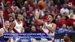 CJ McCollum Receives $100 Million Contract Extension [Video]
