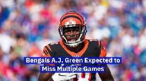 Bengals A.J. Green Expected to Miss Multiple Games [Video]