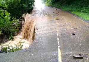 Bridge and Road Destroyed by Flash Flooding in the Yorkshire Dales [Video]