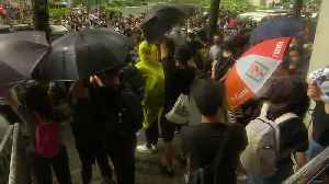 Fresh protests in Hong Kong as more than 40 charged with rioting [Video]