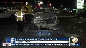 Driver arrested after SUV slams into North Park business [Video]