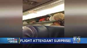 Southwest Airlines Flight Attendant Found In Overhead Compartment [Video]