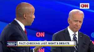 Round 2: Fact-checking last night's debate [Video]