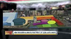 New rendering shows footprint of 2020 Auto Show [Video]
