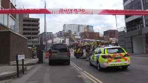 Two hurt after scaffolding collapses in Reading [Video]