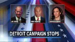 Democratic presidential candidates make Detroit stops after debate [Video]