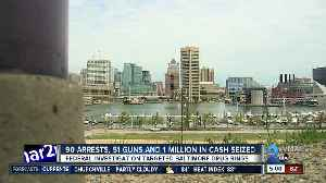 90 arrests, 51 guns and 1 million in cash seized [Video]