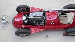 Alfa Romeo GP Tipo 159 Alfetta at F1 British GP - Alfetta Departure from Museo Storico Alfa Romeo in Arese [Video]