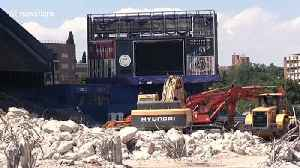 Atletico Madrid's former stadium's skeleton revealed after demolition works continue [Video]