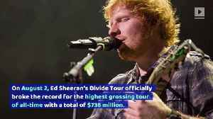 Ed Sheeran Breaks U2's Record for High Grossing Tour of All-Time [Video]