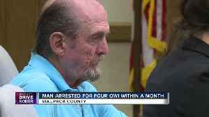 Man arrested for 4 OWI's in less than a month [Video]