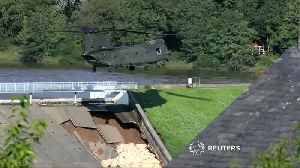 UK town evacuated after reservoir dam damaged [Video]