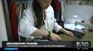 Fashion Designer Works Out Of Mom's Basement [Video]