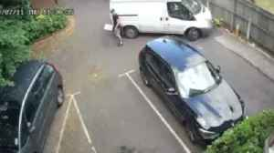 Delivery driver caught throwing parcel on CCTV [Video]