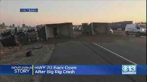 Big Rig Hauling Sand Flips Over On Highway 70 Near Olivehurst [Video]