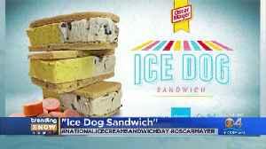 WEB EXTRA: Oscar Mayer Celebrates National Ice Cream Sandwich Day By Creating 'Ice Dog Sandwich' [Video]