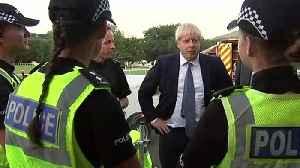 News video: Boris Johnson meets emergency services at Whaley Bridge