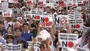 Protests erupt as relations cool between Japan and South Korea [Video]