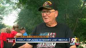 Alexandria Vietnam veteran's family surprises him by replacing lost medals [Video]