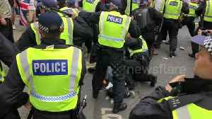News video: Tommy Robinson supporters clash with police in central London
