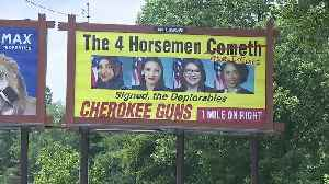WTVC report on Cherokee Guns billboard [Video]