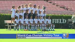 US Women's National Soccer Team Plays At Rose Bowl In Victory Tour [Video]