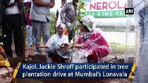 Kajol Jackie Shroff participate in plantation drive in Mumbai's Lonavala [Video]