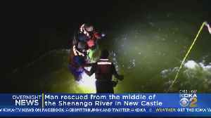 First Responders Rescue Man From Fast-Moving Waters [Video]