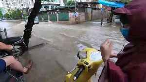 Rains from Tyhphoon Wipha flood Hanoi, Vietnam [Video]