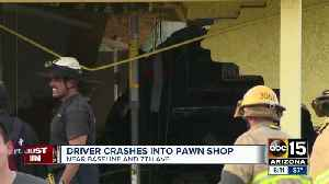 Car slams into pawn shop at 7th Avenue and Baseline Road [Video]
