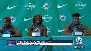 Miami Dolphins host High School Media Day [Video]