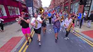 This riotous brass band totally stole the show at Leeds Pride parade [Video]