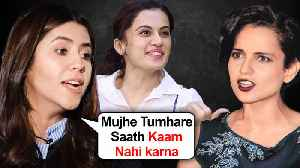 Ekta Kapoor REFUSES To Work With Kangana Ranaut Chooses Taapsee [Video]