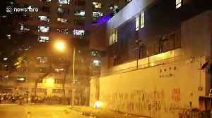 News video: Hong Kong protestors use slingshots, lasers to take on police armed with tear gas