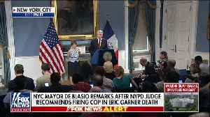Bill De Blasio holds press conference on Eric Garner case [Video]