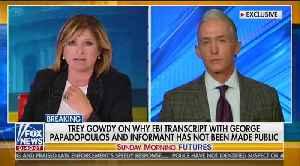 Trey Gowdy talks Mueller investigation on Fox News' 'Sunday Morning Futures' [Video]
