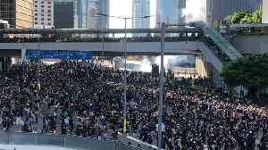 Tear Gas Used Against Protesters in Hong Kong Amid Citywide Strike [Video]