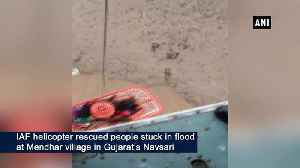 IAF helicopter rescues people from flood stricken areas in Gujarat [Video]