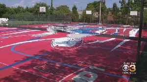 Basketball Court Turned Into Work Of Art In North Philadelphia [Video]