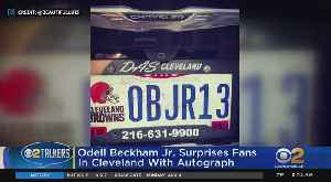 OBJ Signs Fan's License Plate [Video]