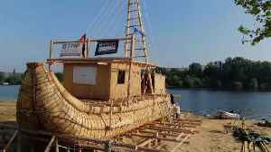 Explorers to sail ancient Black Sea route on reed boat Abora IV [Video]